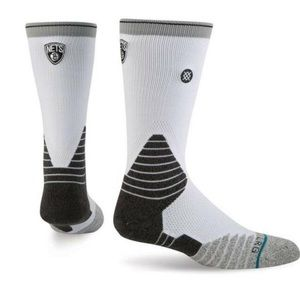 STANCE Brooklyn Nets NBA Blk/Wht Court Socks NWT